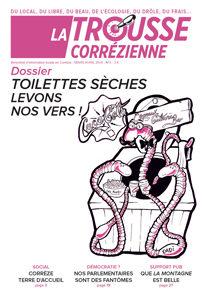 """Une du journal la Trousse Corrézienne numéro 5 """"Toilettes sèches levons nos vers"""""""