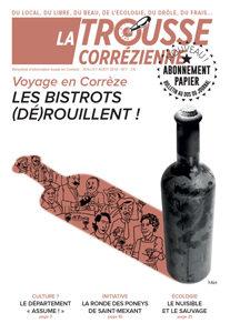 """Une du journal la Trousse Corrézienne numéro 7 """"Voyage en Corrèze Les bistrots dérouillent !"""""""