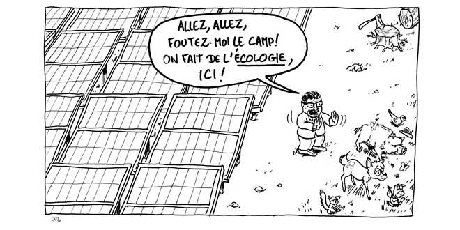 Caricature de Pascal Coste virant des animaux