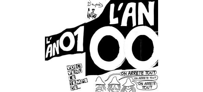 Illustration de Gébé montrant l'annulation du festival l'an zéro