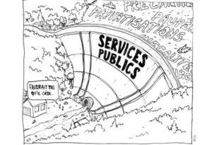 Illustration dénoncant les services publiques à Bort Les Orgues