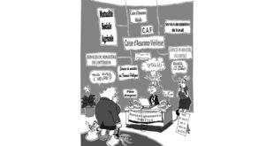 Illustration d'une sénior fasse aux services publiques