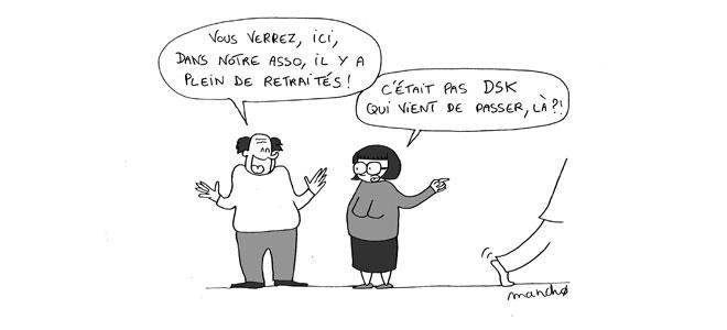 Dessin humoristique de Mancho sur les retraites