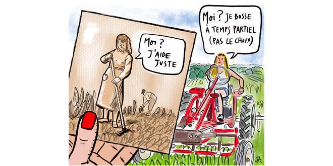 Illustration représentant l'évolution du travail de la femme