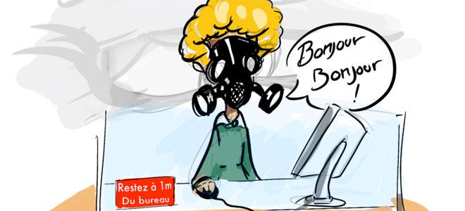 Illustration d'une fonctionnaire qui travail dans le social